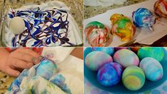 Easter egg painting with shaving foam Picture Postcards, Easter Holidays, Easter Treats, Easter Eggs, Lamb, Bunny, Diy Projects, Diy Crafts, Spring