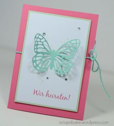Stampin' UP! - Hochzeit - Einladung - Wedding - Invitation - Schmetterlinge - Butterflies