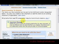 How To List FBA Items Through Amazon Seller Central - Selling On Amazon - Amazon FBA