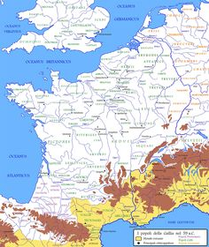 The various peoples of Gaul before Roman conquest