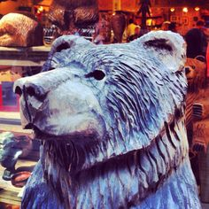 Carved Bear from Muir Woods, California