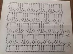 Ideas For Crochet Poncho Diagram Charts Haken Crochet Bikini Pattern, Crochet Amigurumi Free Patterns, Crochet Diagram, Crochet Stitches Patterns, Crochet Chart, Crochet Designs, Crochet Baby Pants, Manta Crochet, Crochet Scarves