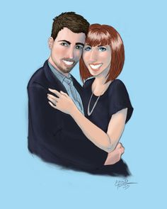 Nick and Andrea by Alyssa L. Tanner, via Behance