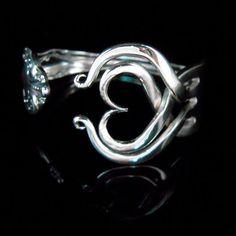 Vintage Hochzeit Schmuck, recycelten Gabel Armband, Öko, Öko-Hochzeit Herzdesign Nummer drei