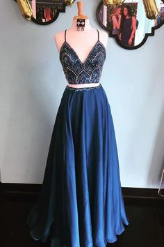 prom dresses navy blue Navy Blue Two Piece Prom Dress,Beaded Top Prom Dress Glitter,Long Formal Evening. Navy Blue Two Piece Prom Dress,Beaded Top Prom Dress Glitter,Long Formal Evening Dress Chiffon 2 Piece Formal Dresses, Navy Blue Prom Dresses, Blue Party Dress, V Neck Prom Dresses, Beaded Prom Dress, Chiffon Evening Dresses, Trendy Dresses, Chiffon Dress, Party Dresses