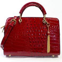 Petra Exotic Structured Satchel #handbagheaven