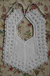 Ravelry: Heirloom Crochet Baby Bib pattern by Megan Mills