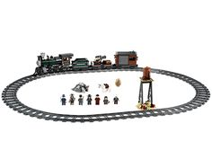 Make a high-speed rescue on rails with the Lone Ranger!