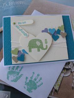 Stampin Up! Babykarte