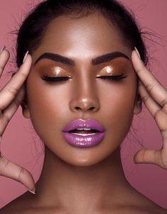 Makeup Trends, Makeup Tips, Beauty Makeup, Eye Makeup, Hair Makeup, Makeup Ideas, Glossy Makeup, Dark Skin Makeup, Natural Makeup