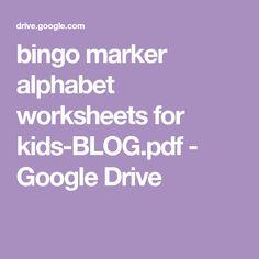 bingo marker alphabet worksheets for kids-BLOG.pdf - Google Drive Activities For 2 Year Olds, Preschool Learning Activities, Alphabet Activities, Toddler Activities, Motor Activities, Alphabet Worksheets, Worksheets For Kids, Activity Board, Paper Plate Crafts