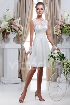 Simple white short wedding dress vestido de noiva curto renda bride dresses wedding gowns vestido de noiva curto C20