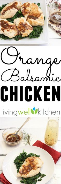 (ad) Liven up your chicken dish with this simple, one pot Orange Balsamic Chicken with Spinach dinner recipe from @memeinge filled with nutrients that's sweet, tangy and delicious. Gluten & dairy free