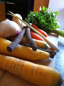 Wintergemüse Eintopf mit Kokosmilch Carrots, Vegetables, Food, Coconut Milk, Rezepte, Carrot, Veggies, Essen, Veggie Food