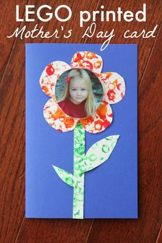 LEGO Week! Today's feature: DIY LEGO Printed Mother's Day Card