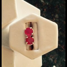 Cristo Gems & Jewelry Burmese Ruby Ear Rings ( fracture filled) 7mm round 3.9 ct tw sterling silver July Birthstone Jewelry Earrings