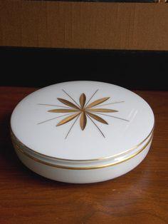 Heinrich Gemmo White Porcelain Lidded Trinket Box by MidCenturyFLA