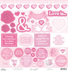 LPPS0007 - Oh my word! Fussy Cut Sheet - It's a PINK thing