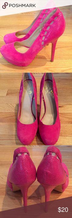 Colin Stuart Hot Pink Platform Heels Hot Pink Platform Heels made by Colin Stuart. Colin Stuart Shoes Heels