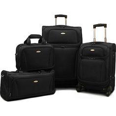 "Samsonite 4 Piece Lightweight Luggage Set, 28"" & 20"" Spinners, Duffel & Boarding"