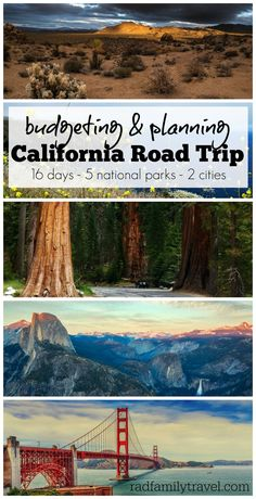 An epic two week family road trip through California national parks & major cities: Joshua Tree, Channel Islands, Los Angeles, Sequoia, Kings Canyon,  Yosemite, & San Francisco.  Check out all of the things to do in California!  Join us for the ride and see if we can stick to  our budget as we plan to have some major fun and amazing family adventures.