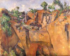 Steinbruch Bibemus by Paul Cézanne.