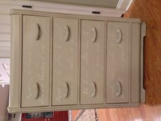 Painted waterfall dresser- Curtain Call