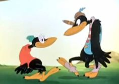 Although the crows from Disney's film Dumbo, which was released during the Jim Crow era, do not show blacks in a negative light. They do however show many similar aspects to that of the original Jim Crow. With the main crow himself being named Jim Crow, these crows were often seen to be singing, dancing and grinning.
