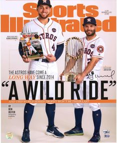 50e7aca4d6eb Jose Altuve   George Springer Houston Astros Fanatics Authentic Dual-Signed  x Wild Ride Sports Illustrated Photograph with Multiple Inscriptions -  Limited ...