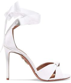 #affiliatead -- Aquazzura - All Tied Up Grosgrain Sandals - White -- #chic only #glamour always