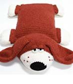 """Free crochet pillow hound pattern PDF File. So cute! I've been looking for a good """"pillow pet"""" pattern."""
