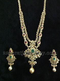 101 Grams Two Step Long Set | Jewellery Designs