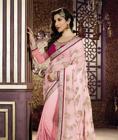 Try & Get's Pink Color Designer Party Wear Saree With Blouse   I found an amazing deal at fashionandyou.com and I bet you'll love it too. Check it out!