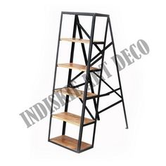 Industrial Ladder Shelves Bookcase Vintage Industrial Iron Frame Wooden, View Industrial Ladder Shelves Bookcase Vintage Industrial Iron Frame Wooden, Vintage Industrial Shelving Product Details from INDISKIE ART DECO on Alibaba.com