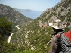 Paddy Dillon looks over the Codula di Sisine Sardinia, Trekking, Coast, Walking, Island, Mountains, Travel, Beautiful, Viajes