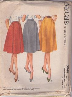 McCall's 5948 Vintage 60's Sewing pattern PRETTY Easy Classic Secretary Skirt Set, Pleats, Loop Belt Carriers