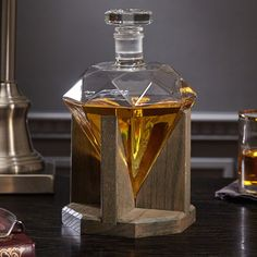 Put your finest spirits or even a fine mouthwash on display in luxurious style with this cool new Diamond Whiskey Decanter.