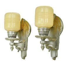 Art Deco Streamline styl Wall svícnů Pár světel 1930 Osvětlení (ANT-686)