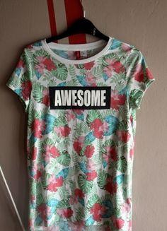 Kup mój przedmiot na #Vinted http://www.vinted.pl/kobiety/koszulki-z-krotkim-rekawem-t-shirty/9848164-awesome-kolorowa-koszulka-hm #H&M #style #tumbrlgirl #awesome #new #sale #musthave #buyme #clothes #t-shirt #beautifull #girl #summer #sexy