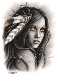 Top 30 Best Canvas Designs Art Wallpaper for Girls Pictures Indian Women Tattoo, Native Indian Tattoos, Indian Girl Tattoos, Back Tattoo Women, Tattoos For Women, Native American Drawing, Native American Tattoos, Native American Girls, Native American Beauty