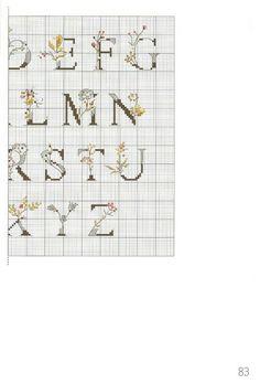 Cross Stitch Letters, Mini Cross Stitch, Cross Stitch Samplers, Cross Stitch Flowers, Cross Stitching, Cross Stitch Embroidery, Embroidery Hoop Art, Blackwork Patterns, Stitch Patterns