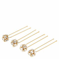 Gold Tone Fireball Hair Pins