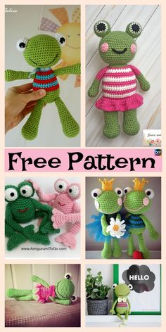 Cute Crochet Amigurumi Frog – Free Patterns #freecrochetpattern #frog #amigurumi