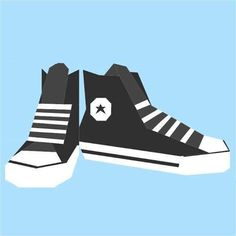 Converse high tops ~ foundation paper pieced pattern, intermediate skill, maybe for Doctor Who /Ten, $3.50 pattern download   by QuietPlay via Craftsy