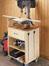 Drill Press Storage Cart.  Tweak a little for a pretty nice nightstand.