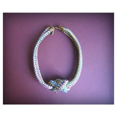 Robin egg blue rope infinity necklace with crystals by maslinda ($65) via Polyvore