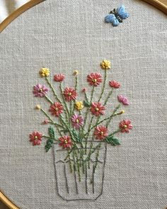 Wonderful Ribbon Embroidery Flowers by Hand Ideas. Enchanting Ribbon Embroidery Flowers by Hand Ideas. Hand Embroidery Projects, Hand Embroidery Stitches, Silk Ribbon Embroidery, Crewel Embroidery, Hand Embroidery Designs, Cross Stitch Embroidery, Flower Embroidery, Embroidery Needles, Embroidery Techniques