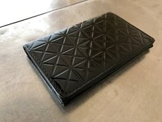 Issey miyake leather purse, Issey miyake pleats please purse, coin wallet, card wallet, high fashion wallet, black geometric purse by NUKOBRANDS on Etsy https://www.etsy.com/listing/495612433/issey-miyake-leather-purse-issey-miyake
