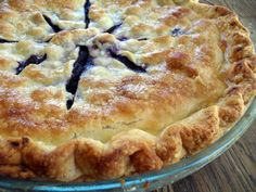 """I made this over the weekend, I'm told it was the BEST blueberry pie ever! And, I am not much of a baker."""