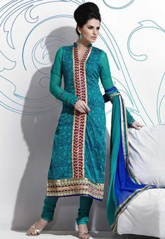 #Green #Cotton #Chuddidar #Kameez with #Dupatta   #Green #Cotton #kameez #designed with #Zari,#Resham #Embroidery #With #Lace #Border #Work. Available with Green Cotton Bottom.  INR: 2,741.00  With Exclusive Discounts   Grab: http://tinyurl.com/jq7naxo